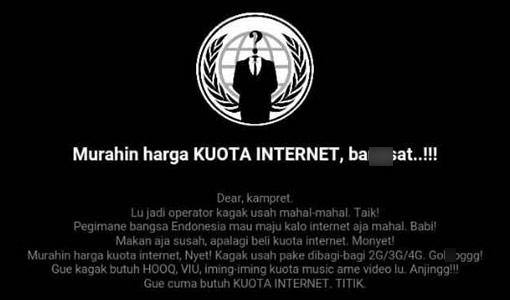 Telkomsel di hack