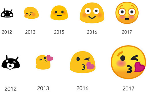 Evolusi emoji Android