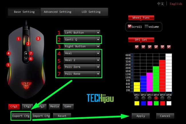 Mengatur tombol macro mouse gaming fantech