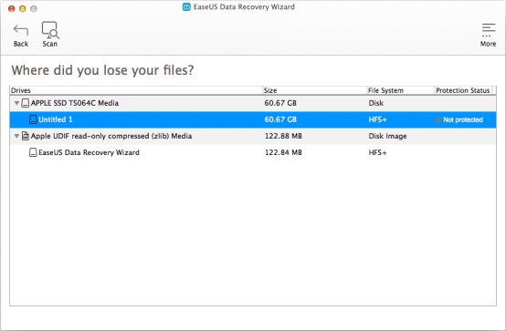 Recovery data yang hilang di mac