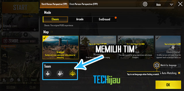Mode tim pubg mobile