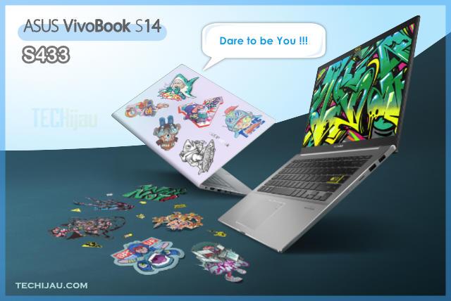 Personalisasikan ASUS Vivobook S14 S433 dengan stiker