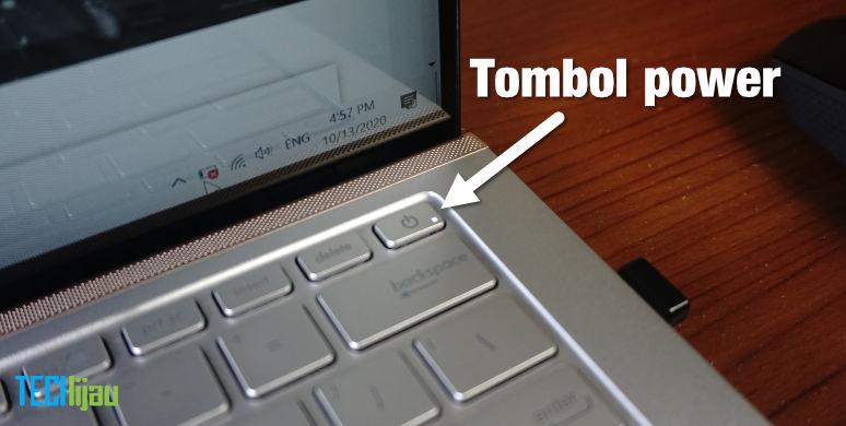 cara menyalakan laptop