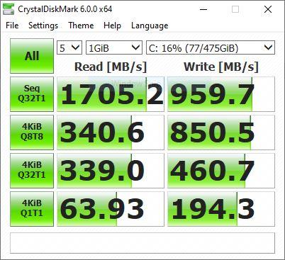 benchmark crystaldiskmark asus vivobook a416