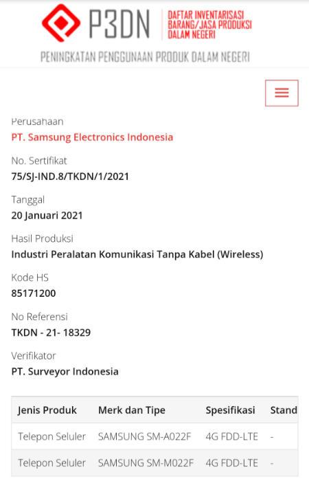 Galaxy A02 dan Galaxy M02 bakal masuk Indonesia