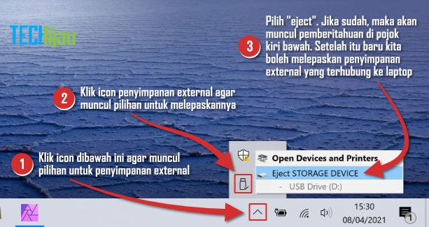 Cara eject usb flashdisk