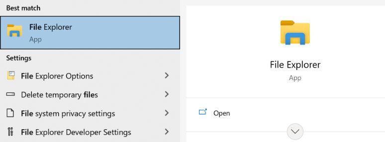 File explorer laptop